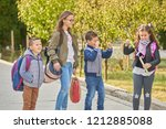 primary education  friendship ... | Shutterstock . vector #1212885088
