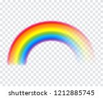 colorful rainbow icon vector... | Shutterstock .eps vector #1212885745
