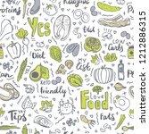 ketogenic food vector seamless... | Shutterstock .eps vector #1212886315