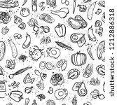 ketogenic food vector seamless...   Shutterstock .eps vector #1212886318