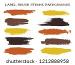 mottled label brush stroke... | Shutterstock .eps vector #1212888958