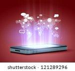 modern communication technology ... | Shutterstock . vector #121289296