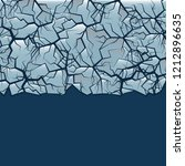cracked ice background. winter... | Shutterstock . vector #1212896635