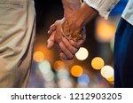closeup of loving couple... | Shutterstock . vector #1212903205