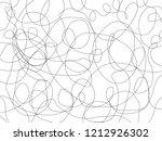 black messy lines.pencil sketch ... | Shutterstock . vector #1212926302