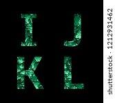 i j k l green camouflage... | Shutterstock . vector #1212931462