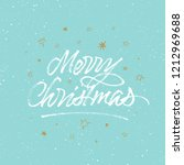 merry christmas brush... | Shutterstock .eps vector #1212969688