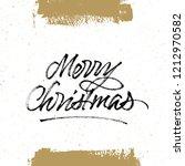 merry christmas brush... | Shutterstock .eps vector #1212970582