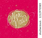 happy new year greeting card.... | Shutterstock .eps vector #1212970585