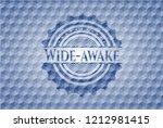 wide awake blue emblem with... | Shutterstock .eps vector #1212981415