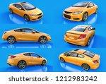 set yellow small sports car... | Shutterstock . vector #1212983242