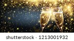 champagne on bright background... | Shutterstock .eps vector #1213001932