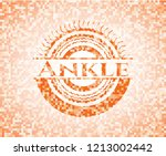 ankle orange mosaic emblem with ... | Shutterstock .eps vector #1213002442