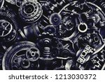 steampunk background  machine... | Shutterstock . vector #1213030372