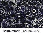 steampunk background  machine... | Shutterstock . vector #1213030372
