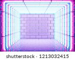 neon cyberpunk background... | Shutterstock . vector #1213032415