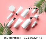 cosmetic mock up bottles.... | Shutterstock . vector #1213032448