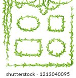 liana frame and leaves... | Shutterstock .eps vector #1213040095