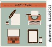 editor tools | Shutterstock .eps vector #121305025