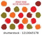vector grunge circles. modern... | Shutterstock .eps vector #1213065178