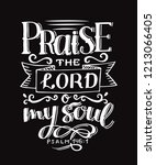 Hand Lettering Praise The Lord...