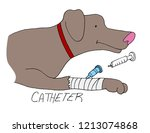 an image of a catheter placed... | Shutterstock .eps vector #1213074868