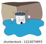an image of a flooded basement... | Shutterstock .eps vector #1213074895