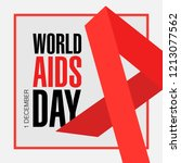 world aids day. template for... | Shutterstock .eps vector #1213077562