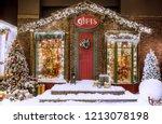 christmas studio decorations an ... | Shutterstock . vector #1213078198