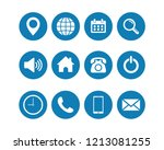 web icon set vector  contact us ...