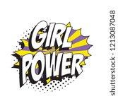 phrase girl power in retro... | Shutterstock .eps vector #1213087048