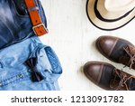 men's fashion concept with... | Shutterstock . vector #1213091782