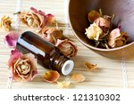 Dried Roses  A Bottle Of...