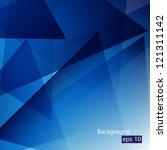 elegant geometric blue... | Shutterstock .eps vector #121311142