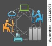 network communication system...   Shutterstock .eps vector #1213120078
