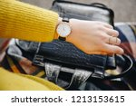 street style fashion details.... | Shutterstock . vector #1213153615