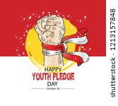 happy youth pledge day   Shutterstock .eps vector #1213157848