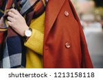 street style fashion details.... | Shutterstock . vector #1213158118