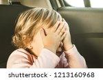 lovely little girl in the back... | Shutterstock . vector #1213160968
