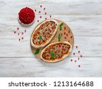 traditional arabic pizza... | Shutterstock . vector #1213164688