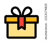 xmas gift wrapped | Shutterstock .eps vector #1213174825