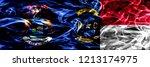 michigan vs north carolina...   Shutterstock . vector #1213174975