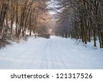 snowy winter road | Shutterstock . vector #121317526
