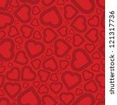 bright love red heart seamless... | Shutterstock . vector #121317736