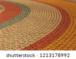 modern cement multi colored... | Shutterstock . vector #1213178992