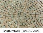 modern cement multi colored... | Shutterstock . vector #1213179028