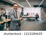 portrait of a successful... | Shutterstock . vector #1213184635