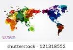 world map watercolor  vector...