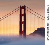 panorama photo of golden gate... | Shutterstock . vector #121318678