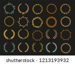vector laurel autumn wreaths on ... | Shutterstock .eps vector #1213193932